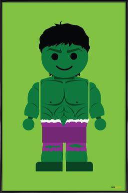 Hulk Toy Affiche sous cadre standard