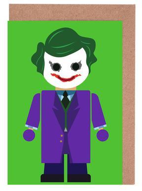 Joker greeting cards juniqe joker toy rafa gomes greeting card set m4hsunfo