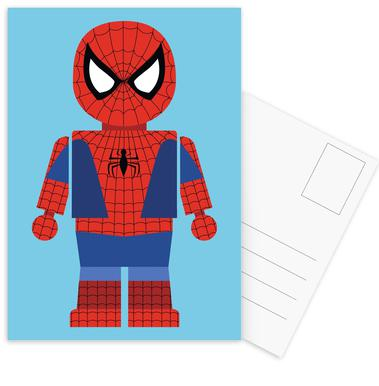 Spiderman Toy Set de cartes postales