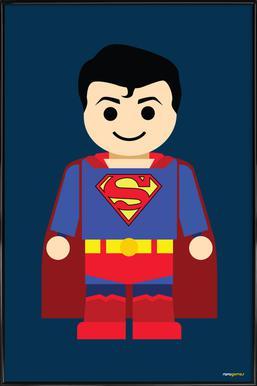Superman Toy Affiche sous cadre standard