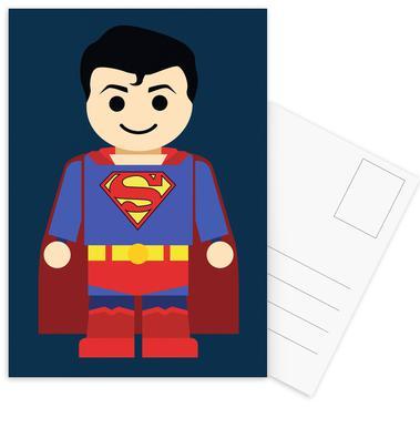 Superman Toy Set de cartes postales