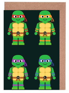 Teenage Mutant Ninja Turtles Als Wenskaartenset Juniqe
