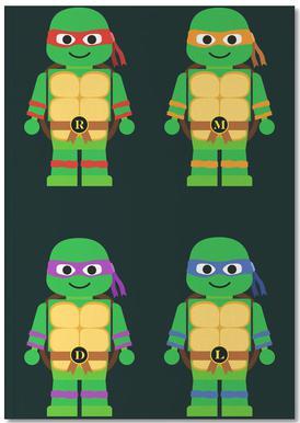 Teenage Mutant Ninja Turtles Als Poster In Houten Lijst Juniqe