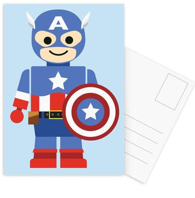 Captain America Toy Postcard Set