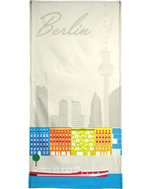 Berlin Skyline Bath Towel