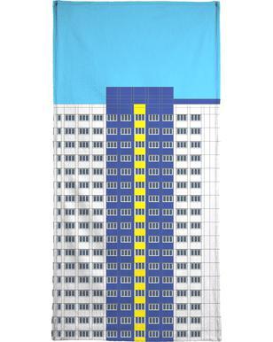 Plattenbau Blau strandlaken