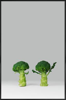 Arguing Broccolis Affiche sous cadre standard