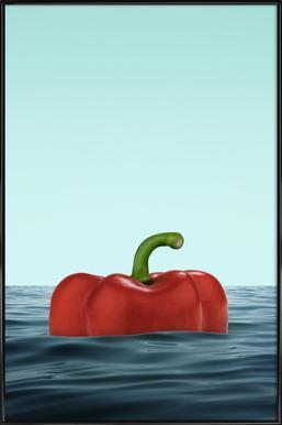 Das Pepper Affiche sous cadre standard