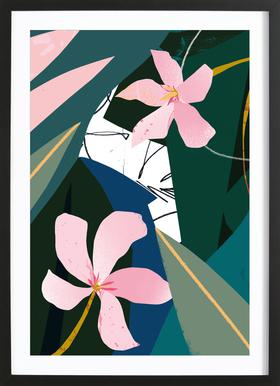 Oleander affiche encadrée