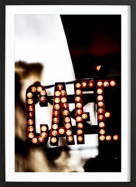 Café Poster in Wooden Frame