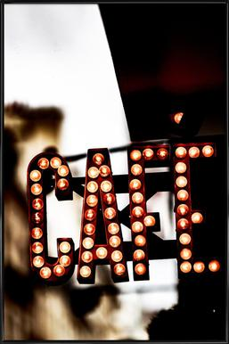 Café Poster im Kunststoffrahmen