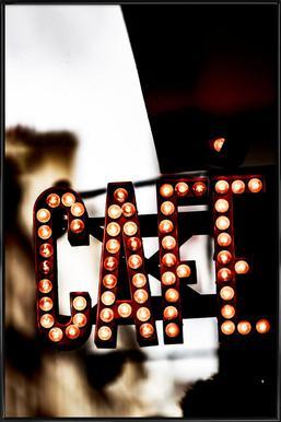 Café Poster in Standard Frame