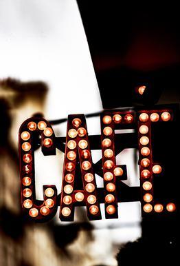 Café Acrylglasbild