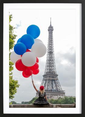 Vive La France Poster im Holzrahmen