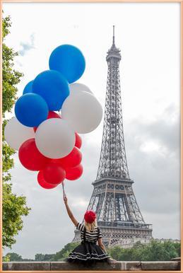 Vive La France Poster im Alurahmen