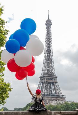 Vive La France Acrylic Glass Print