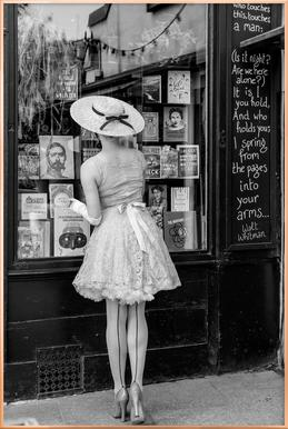 Window Shopping -Poster im Alurahmen