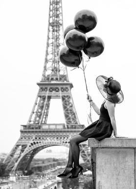 Black Balloons Leinwandbild