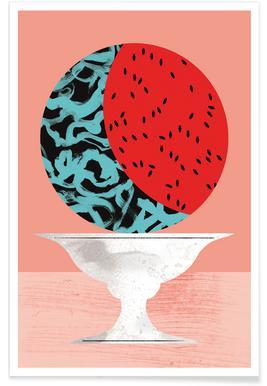 Watermelon Illustration Poster