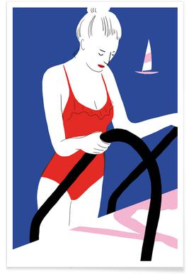 Hot Hot Summer - Lady and Boat Affiche