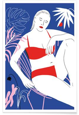 Hot Hot Summer - Lady and Chair Affiche
