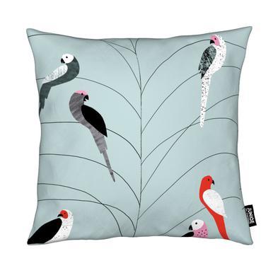 Tropicana - Birds on Branch Grey Kissen