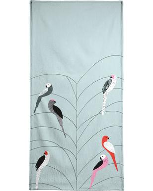 Tropicana - Birds on Branch Grey  Serviette de plage
