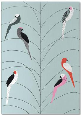 Tropicana - Birds on Branch Grey Notebook