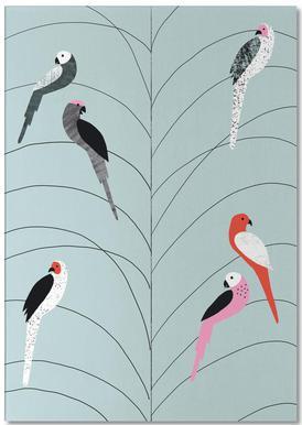 Tropicana - Birds on Branch Grey Bloc-notes