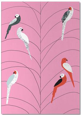 Tropicana - Birds on Branch Pink -Notizblock
