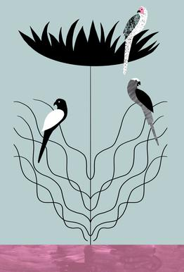 Tropicana - Big Flower Acrylic Glass Print