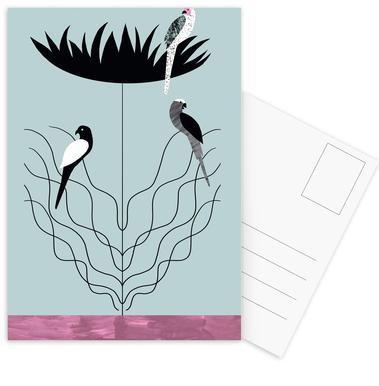 Tropicana - Big Flower Postcard Set