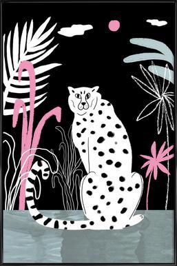 Tropicana - Cheetah and Jungle -Bild mit Kunststoffrahmen