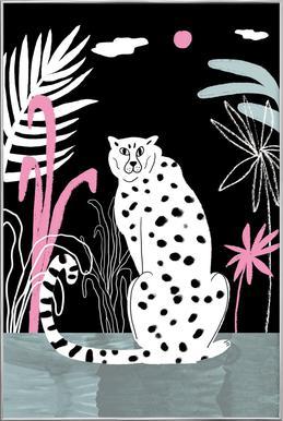 Tropicana - Cheetah and Jungle affiche sous cadre en aluminium