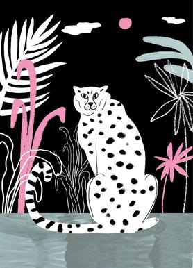Tropicana - Cheetah and Jungle -Leinwandbild