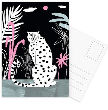 Tropicana - Cheetah and Jungle Set de cartes postales