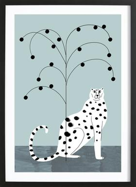 Tropicana - Cheetah and Tree Framed Print
