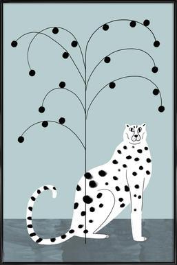 Tropicana - Cheetah and Tree affiche encadrée