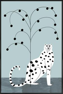 Tropicana - Cheetah and Tree Framed Poster