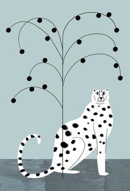 Tropicana - Cheetah and Tree Impression sur alu-Dibond
