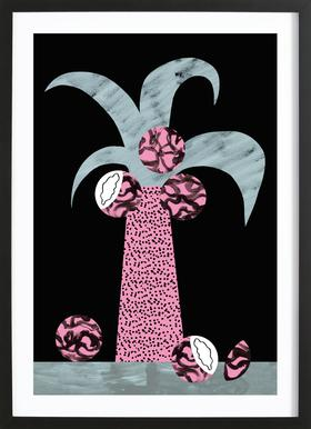 Tropciana - Royal Palm Poster in Wooden Frame