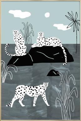 Tropciana - Royal Palm Poster in Aluminium Frame