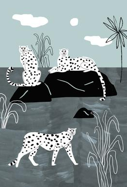 Tropciana - Royal Palm Acrylic Glass Print