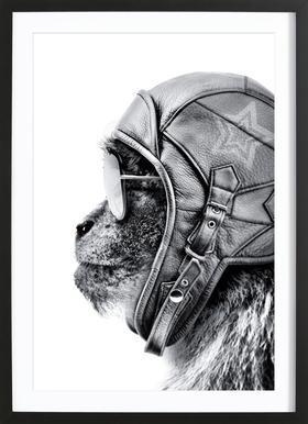 Aviator Monkey Framed Print