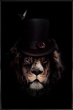 Classy Lion ingelijste poster