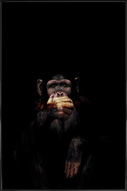 Monkey Speak No Evil Poster in Standard Frame