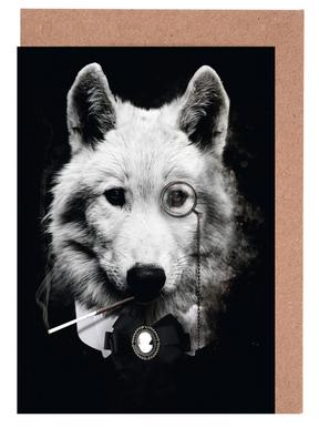 Classy Wolf Greeting Card Set