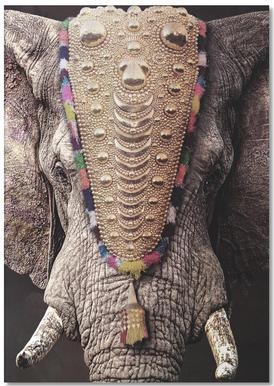 Decorated Elephant Notepad