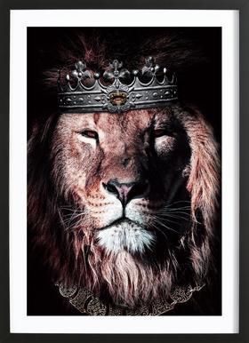 Dark King Poster in Wooden Frame