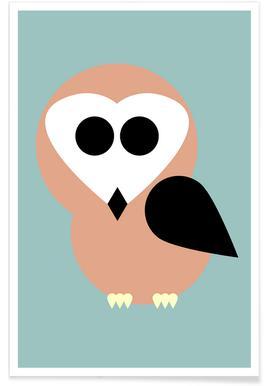 Celine the Owl -Poster